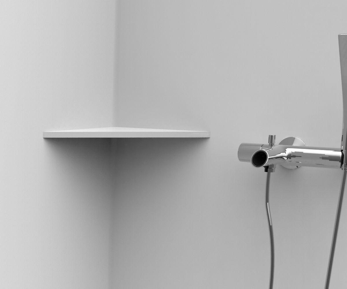 tablette d 39 angle de 12mm pour paroi murale 150x150 mm. Black Bedroom Furniture Sets. Home Design Ideas