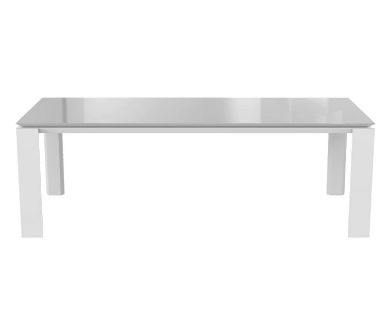 Table de séjour Munich - Blanc / Gris - L2200 x P1000 x H750 mm