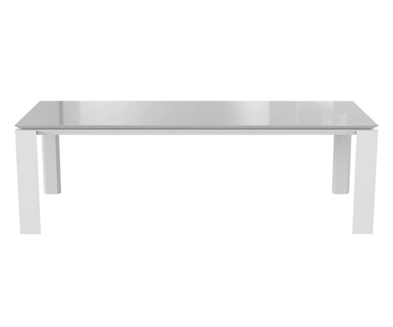 Table de séjour Munich - Blanc / Gris - L2400 x P1000 x H750 mm