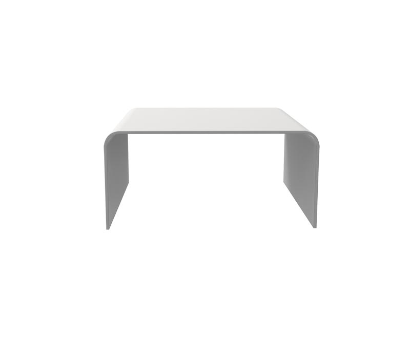 Table basse en solid surface - Blanc - L750 x P375 x H370 mm