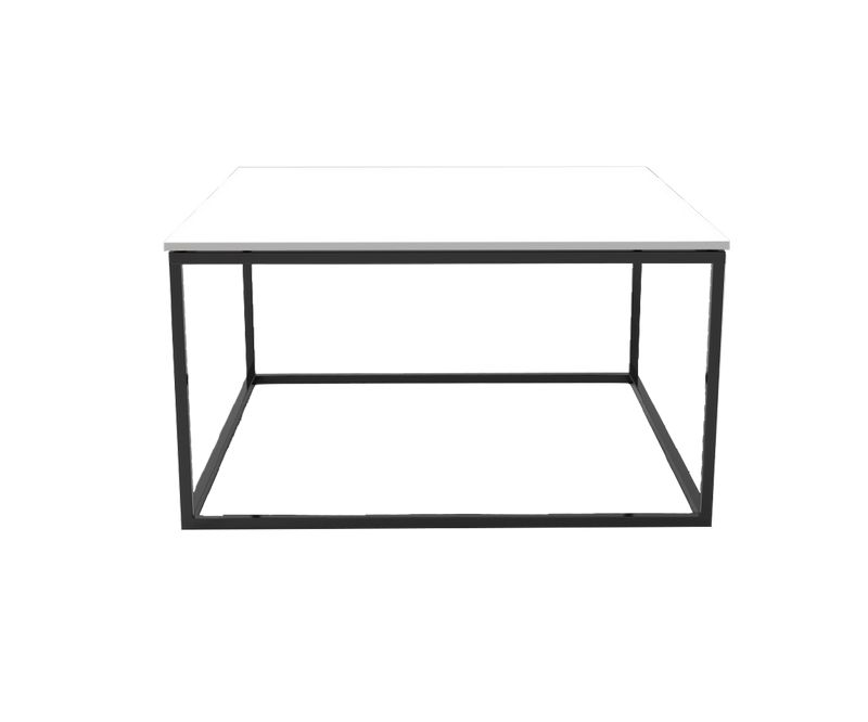 Table basse Square Manhattan K.Life - Blanc / Chêne - L750 x P750 x H412mm