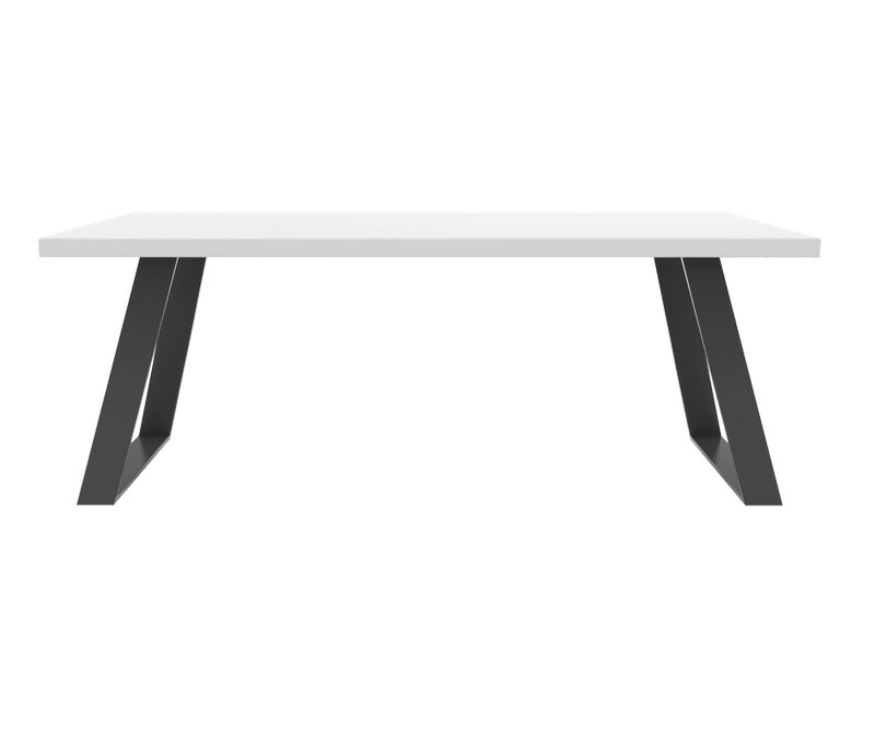 Table de repas Manhattan - Blanc / Gris - L2000 x P900 x H750mm