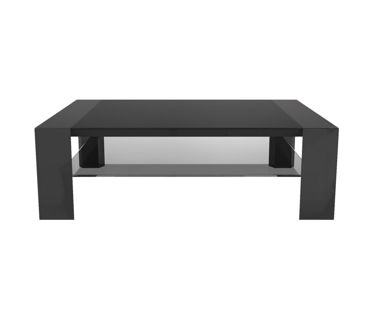Table basse munich gris anthracite noir l1100 x p700 for Table basse gris anthracite